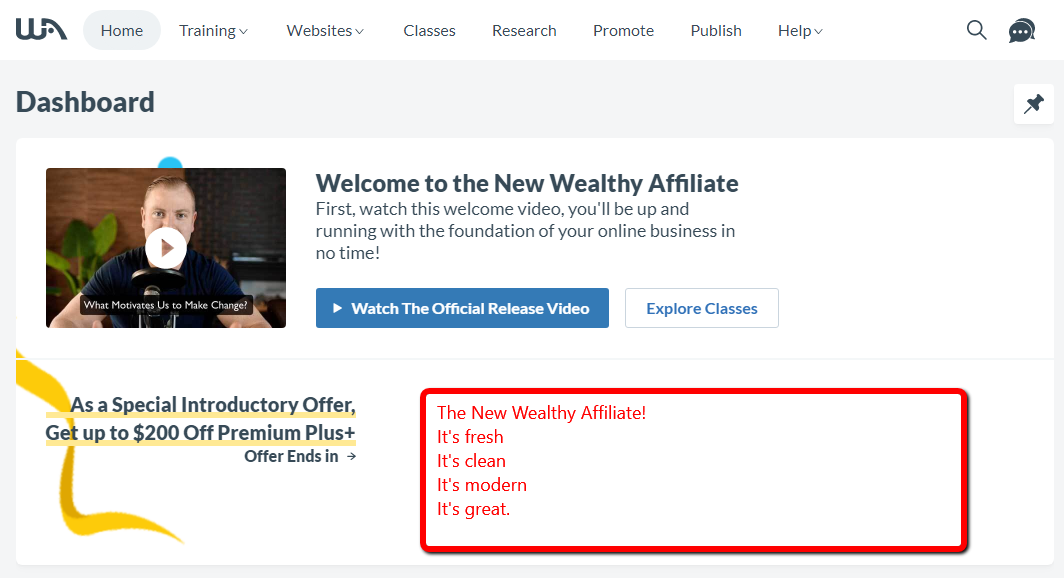 The New Wealthy Affiliate 2020 Update